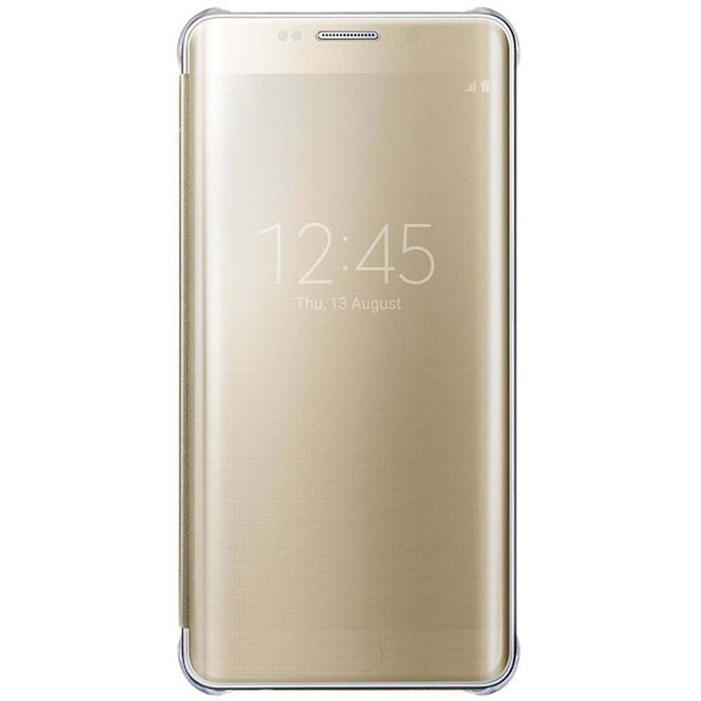 Clear View Cover Gold for Samsung Galaxy S6 Edge+