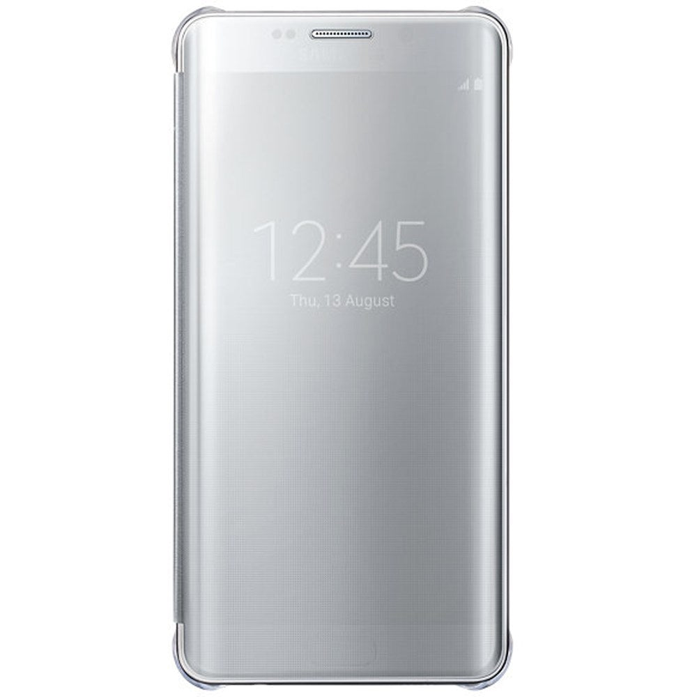Clear View Cover Silver for Samsung Galaxy S6 Edge+