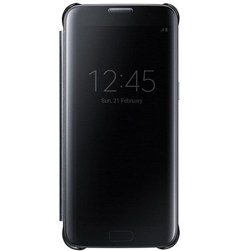 Clear View Case for Samsung Galaxy S7 Edge -Black