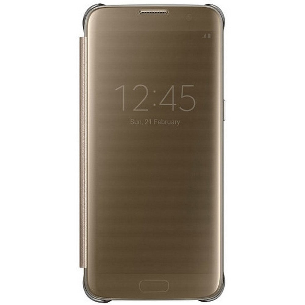 Clear View Case Gold for Samsung Galaxy S7 Edge