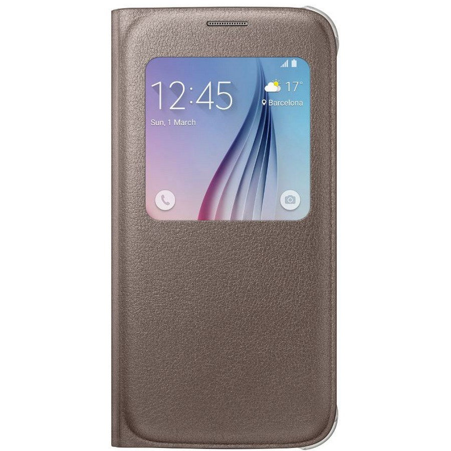 S-View Case For Samsung Galaxy S6 -Gold