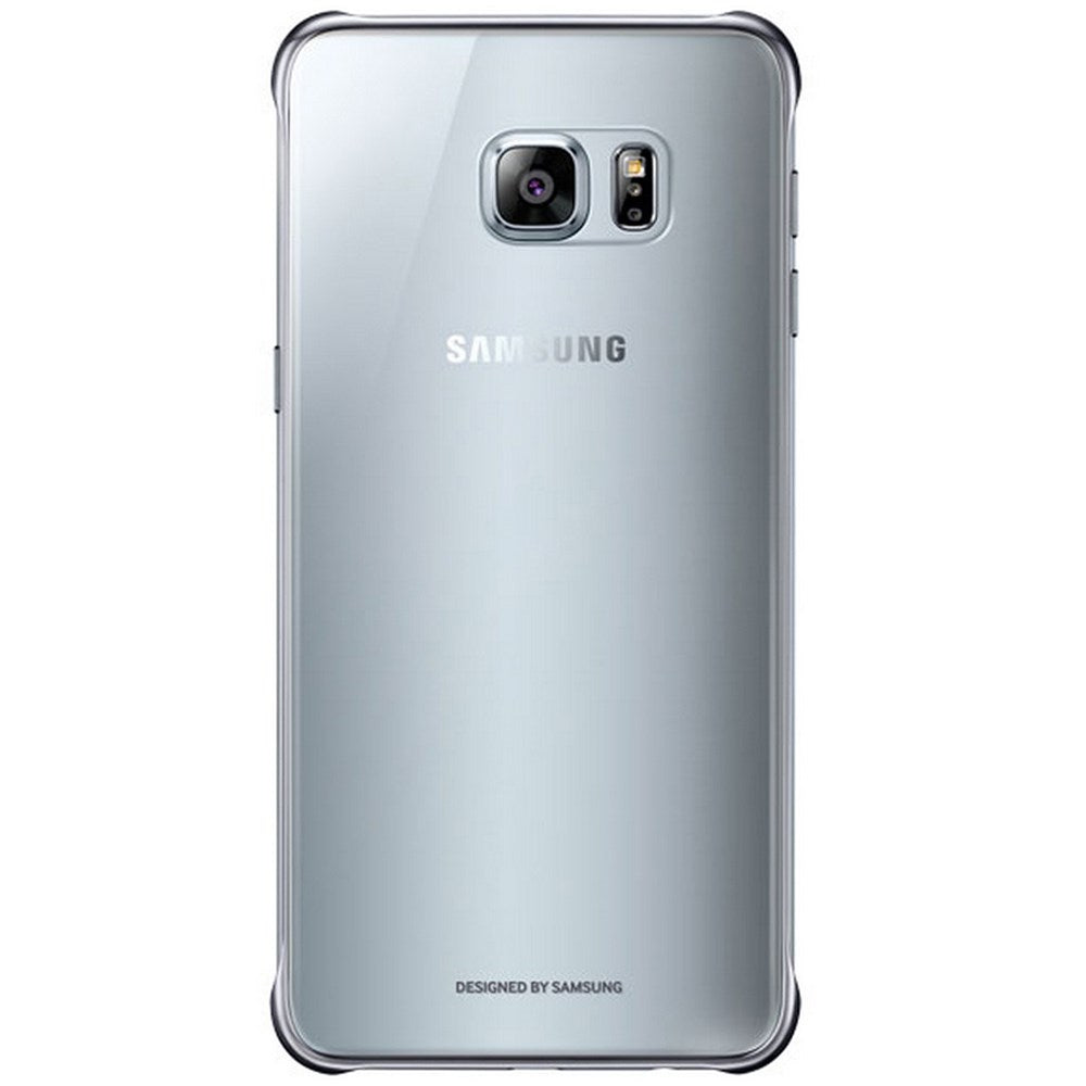 Clear Back Case For Samsung Galaxy S6 Edg+  -Silver