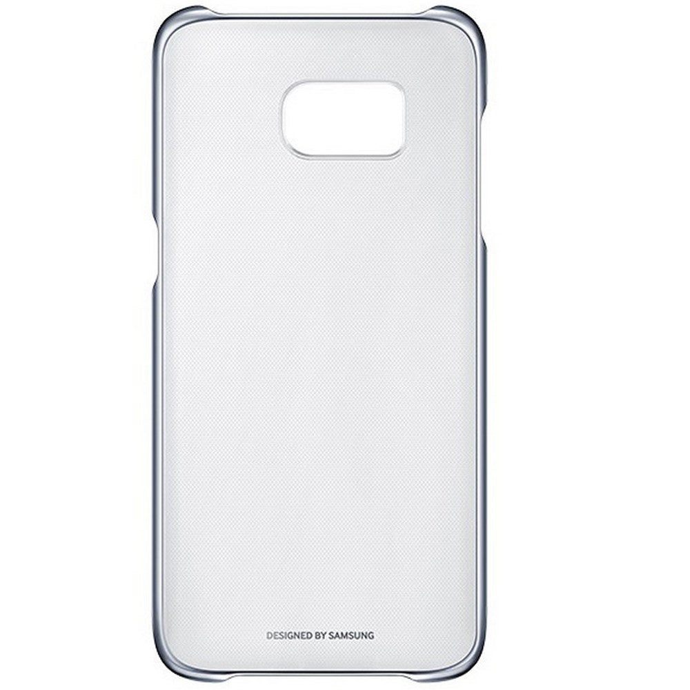Clear Back Case for Samsung Galaxy S7 Edge -Black