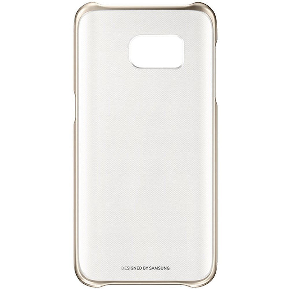 Clear Back Case For Samsung Galaxy S7  -Gold