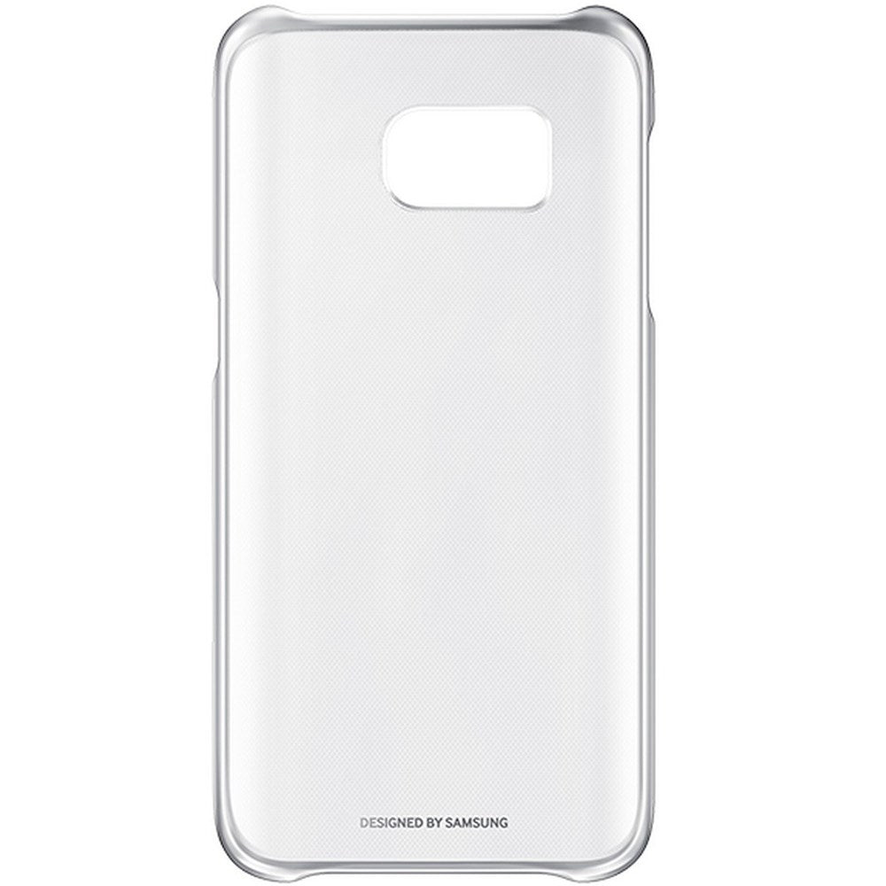 Clear Back Case For Samsung Galaxy S7  -Silver