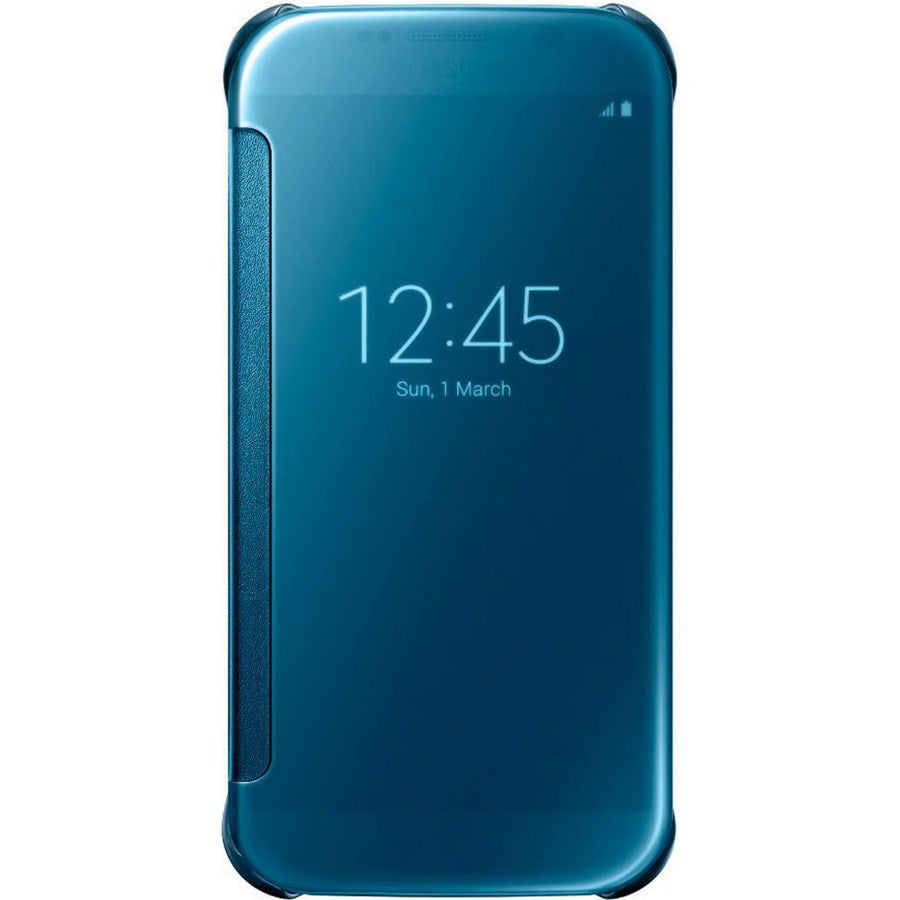 Clear View Cover For Samsung Galaxy S6  -Blue