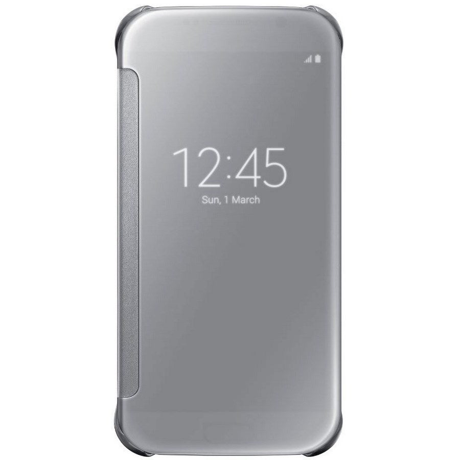 Clear View Cover For Samsung Galaxy S6  -Silver