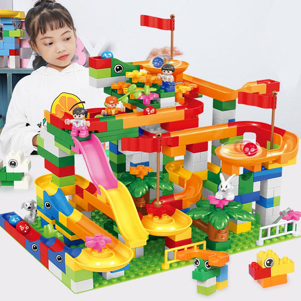 LeadingStar 74PCS Children Building Blocks Plastic Educational Puzzle Sliding Blocks