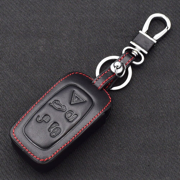 Gun Black ZHAOZOUL Leather/&Zinc Alloy Car Styling Key Cover Case Accessories Keyring for Land Rover a9 Range Rover Freelander 2 3 Evoque Discovery 3 4 Sport