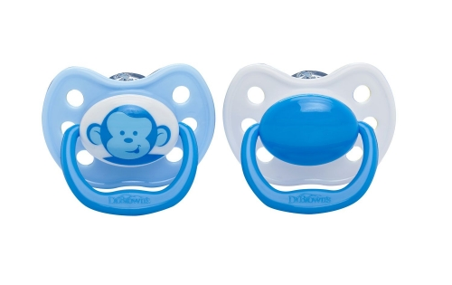 Dr. Brown's Ortho CLASSIC SHIELD Pacifier - Stage 2 * 6-12M - Blue, 2-Pack