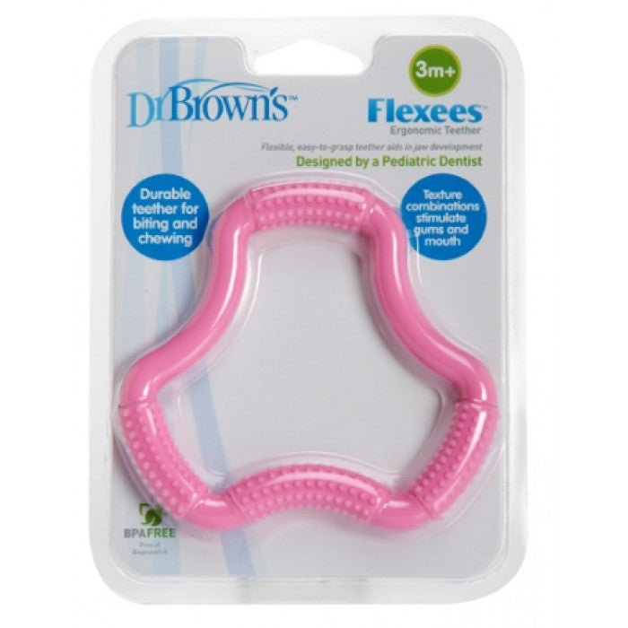 "Dr. Brown's A-Shaped Teether ""Flexees"" - Pink"