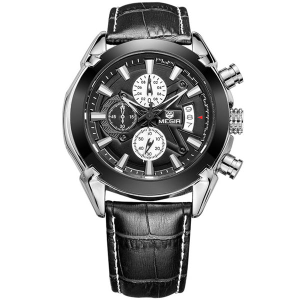 MEGIR 2020 Men Fashion Watch Multifunctional 3D Design Male Brand Quartz Watch