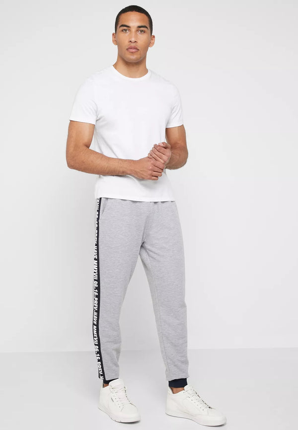 SEVENTY FIVE Side Stripe Cuffed Joggers