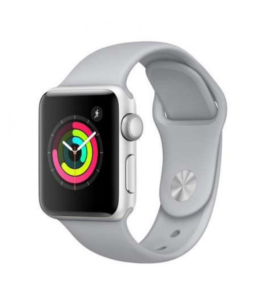 Apple Watch Series 3 GPS, 42mm Silver Aluminium Case with Fog Sport Band