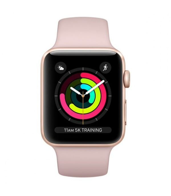 Apple Watch Series 3 GPS, 42mm Gold Aluminium Case with Pink Sand Sport Band