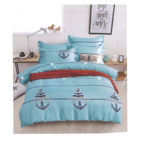 Blue Anchors 4 Piece Cotton Set