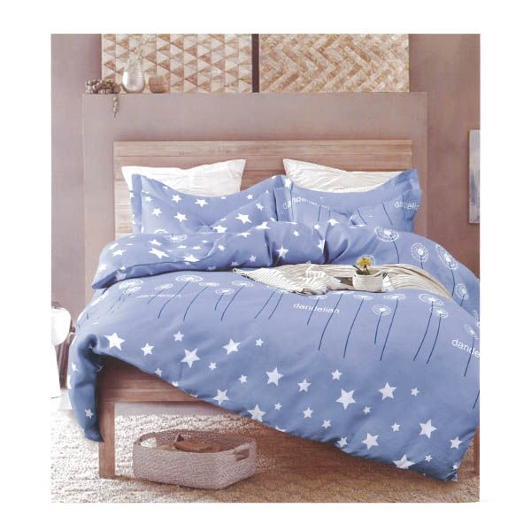 Blue Starry Night 4 Piece Cotton Set