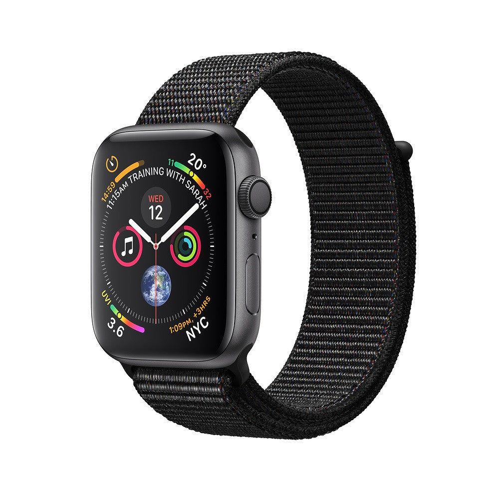 Apple Watch Series 4 GPS، 44mm Space Grey Aluminium Case with Black Sport Loop