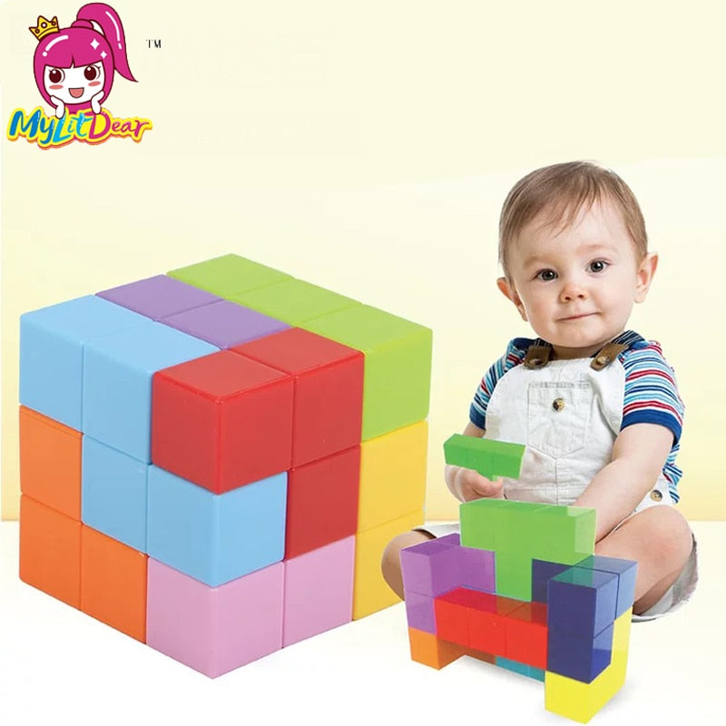 Magnetic Building Blocks Magnetic Tiles for Kids Educational Toys Stress Relief Toy Games Square Magnets Cube Intelligence toys