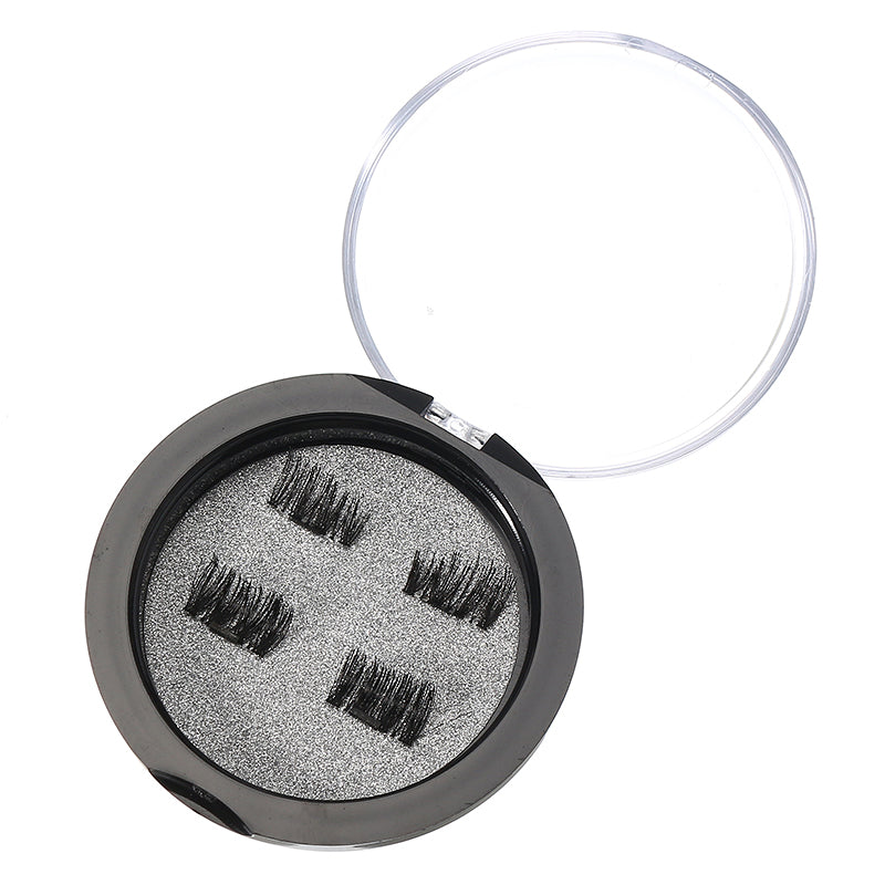 Magnetic Eyelashes Reusable Ultra Thin Black Thicker 3D Magnet False Lash Makeup