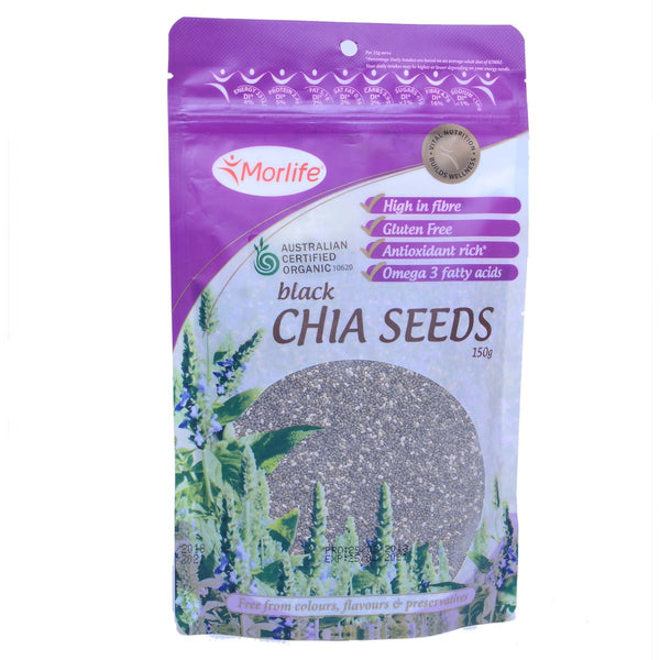 Morlife Black Chia Seeds 150g