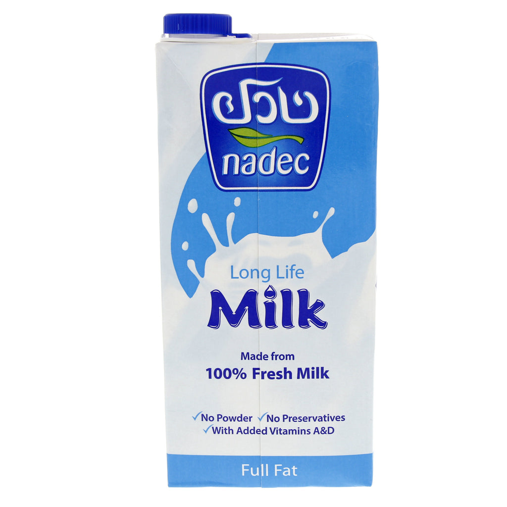 NADEC FULL FAT LONG LIFE MILK  4 X 1LTR