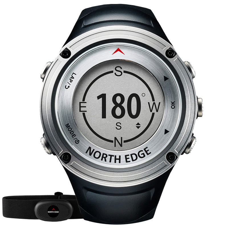 NORTH EDGE FOURIER Outdoor GPS Compass Altimeter Barometer Professional Sport Digital Watch