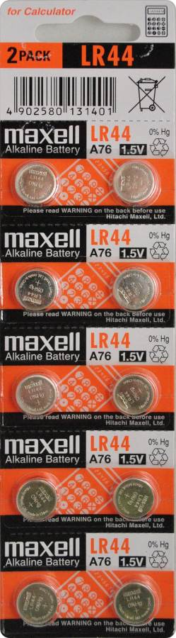 Maxell Alkaline Battery LR44 1.5V Button Cell  10PCS