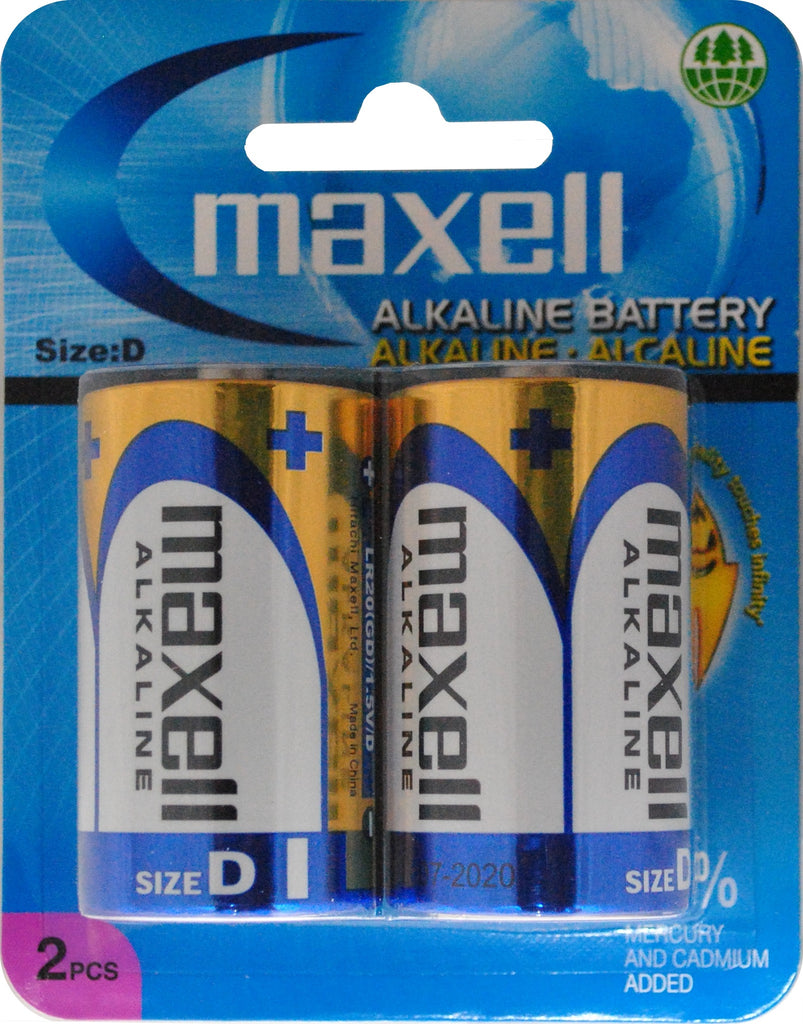 Maxell Alkaline Battery D Size (LR20) 2PC