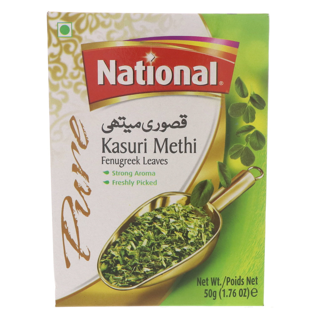 National Pure Kasuri Methi Fengreek Leaves 50g