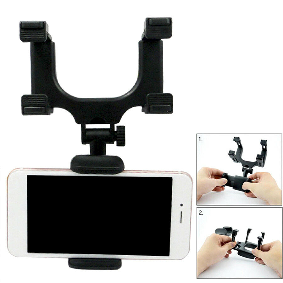 New Universal Car Rearview Mirror Mount Stand Holder Cradle For Cell Phone