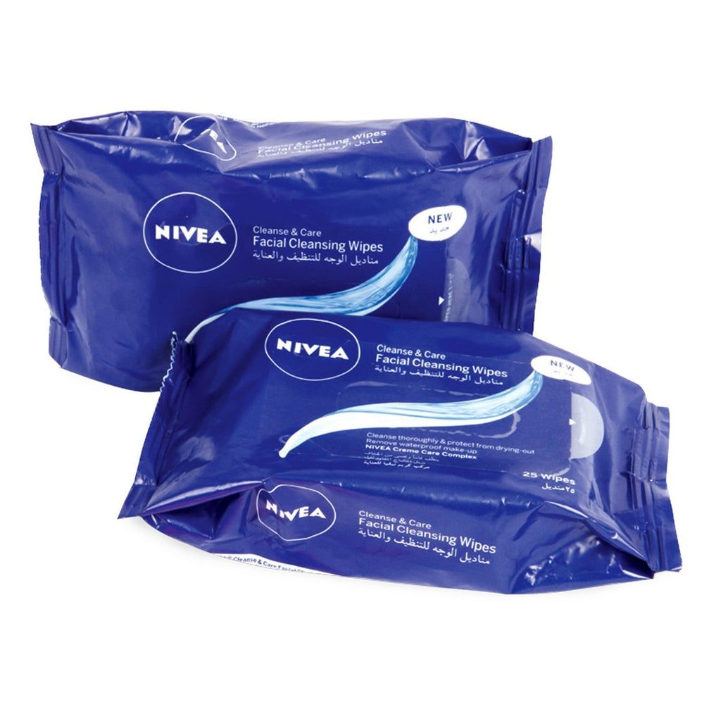 Nivea Facial Cleansing Wipes 25pcs x 2