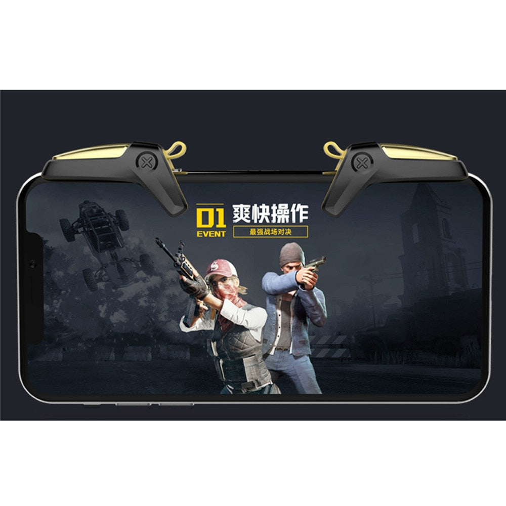 PUBG Mobile Controller Gamepad Trigger for iOS Android L1 R1 Joystick Mobile Games Shooter PUBG Fire Button Aim Key Accessories