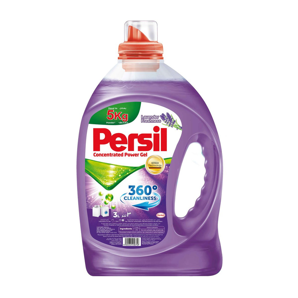 Persil Concentrated Power Gel Liquid Detergent Lavender Freshness 3Litre
