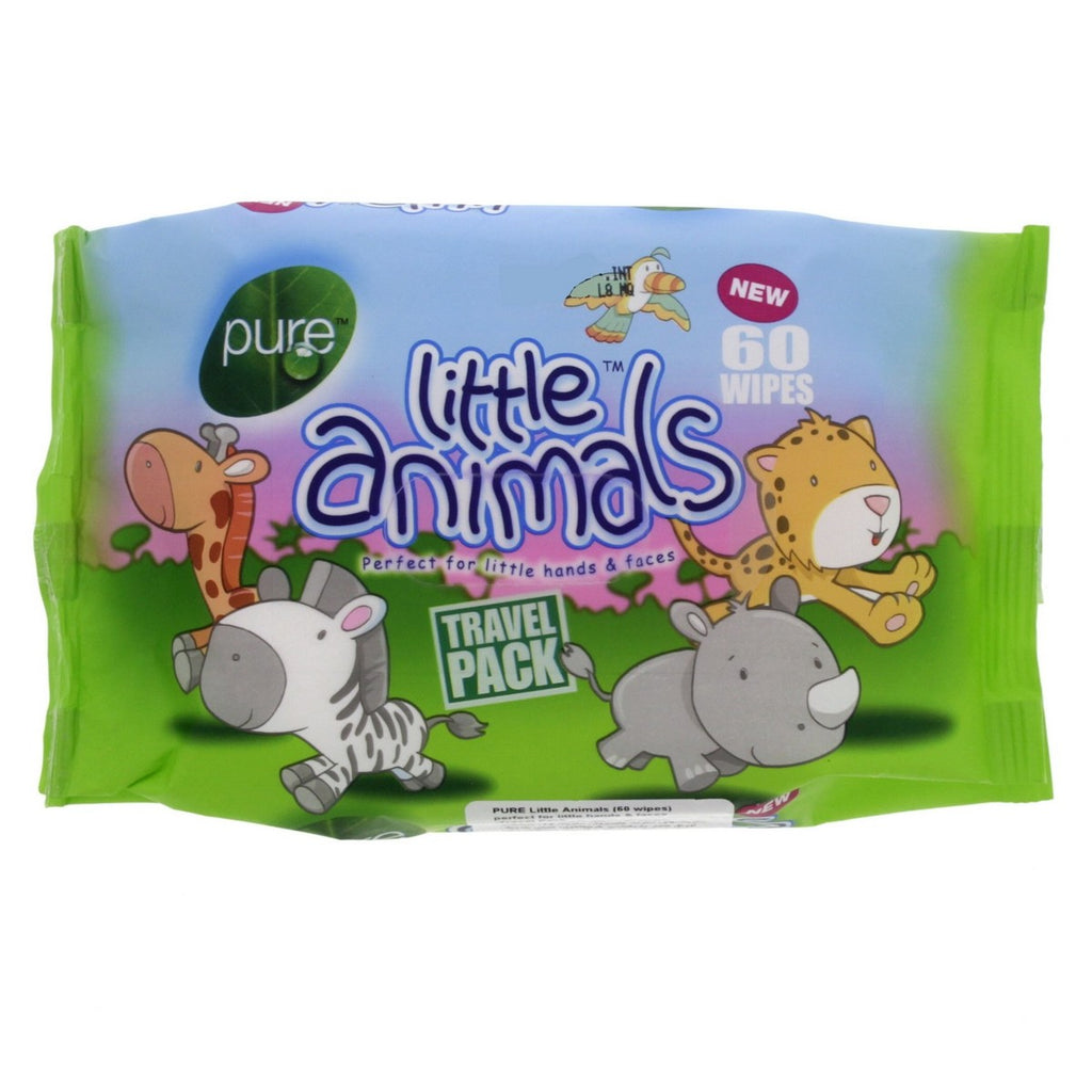 Pure Little Animals Travel Wipes 60pcs