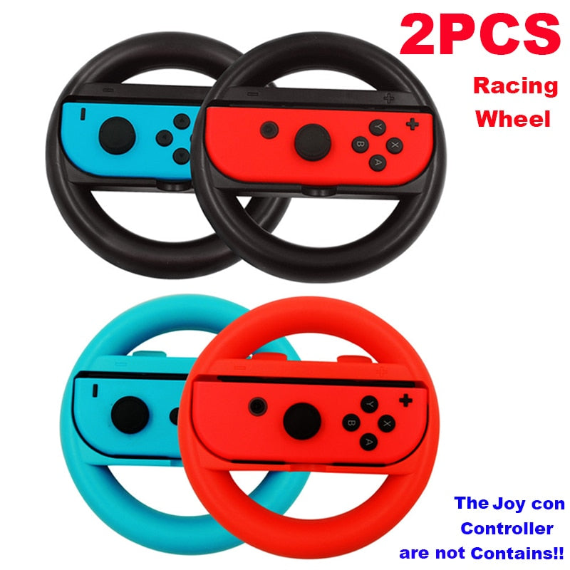 Racing Wheel For Joy con، 1pair game Wheels for Nintend Switch Steering Wheel Gamepad for Joy-Con Controller Joystick Grip