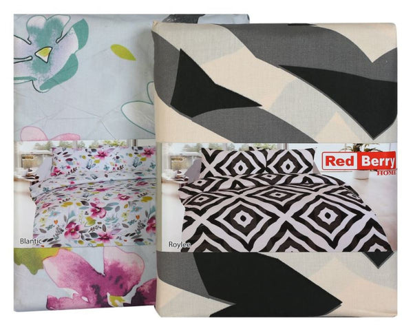 Red Berry Bed Sheet King Size 274x259cm 1Pc