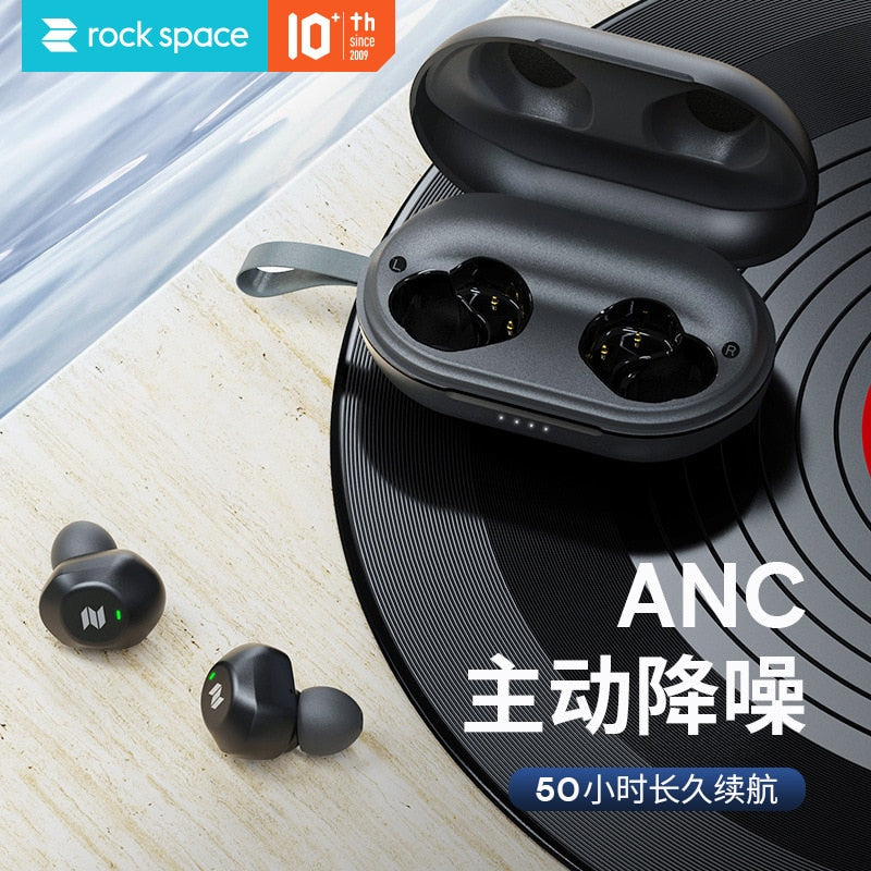Rock Eb80 TWS Noise Reduction Bean Bluetooth Earphones Really Wireless Earphone Sports Mini In-ear 5.0 Earphones