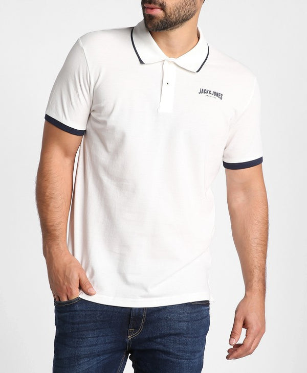 White Retro Jack Polo Tee