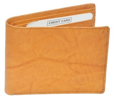 Slim wallet leather house wallet
