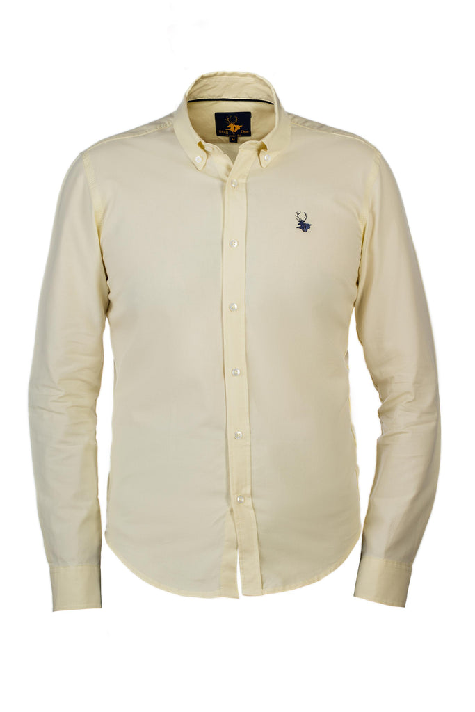 Mens Clothing - Yellow down button shirt