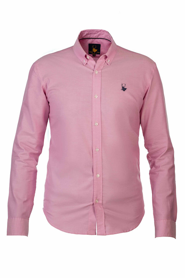 Mens Clothing - Pink down button shirt