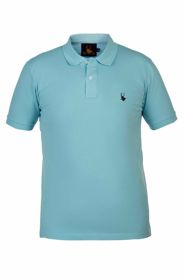 Mens Clothing - Sky blue polo shirt