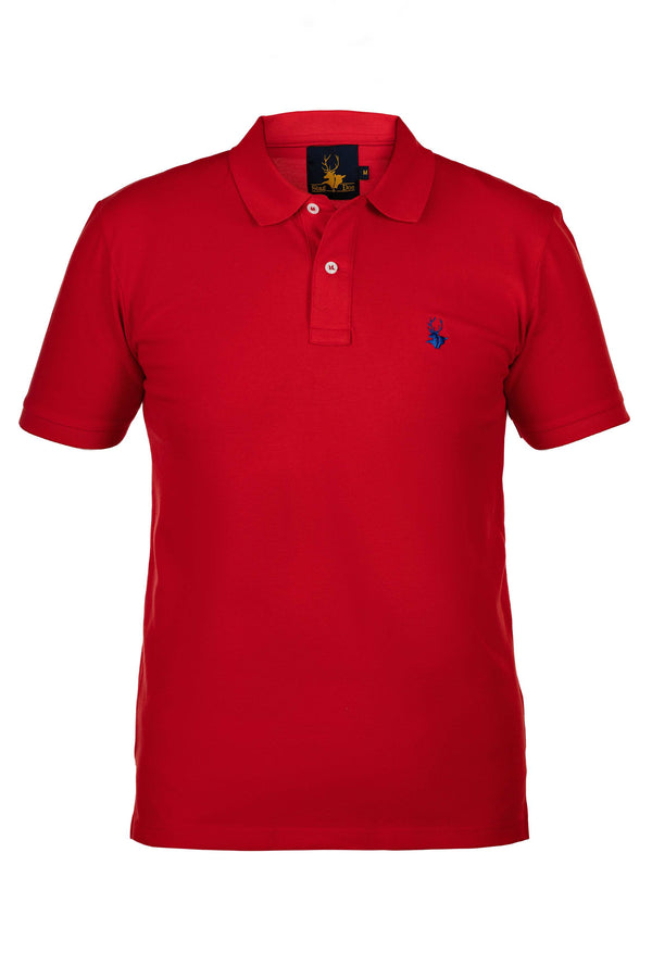 Mens Clothing - Fiery red polo