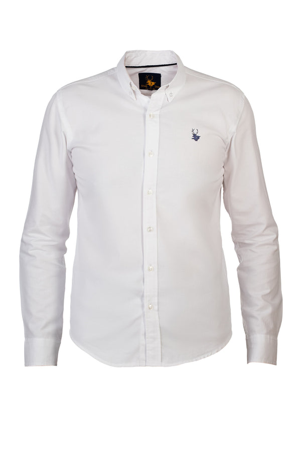Mens Clothing - White down button shirt