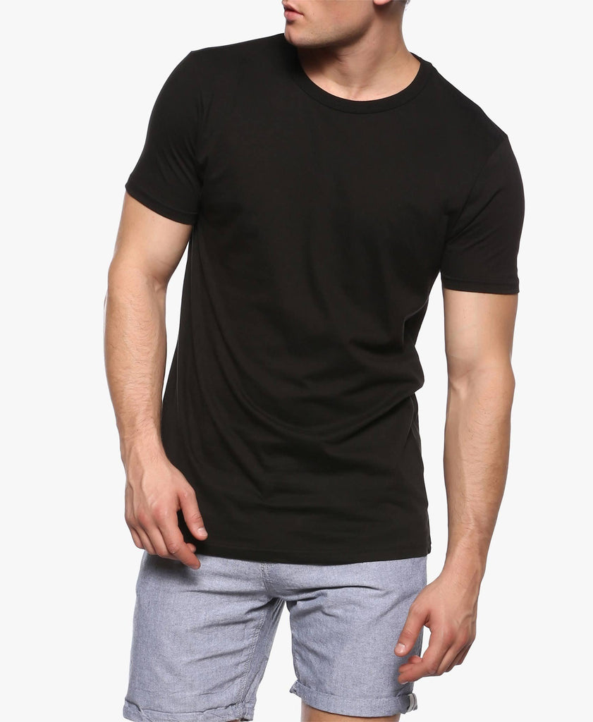 Black Longline Zip T-Shirt