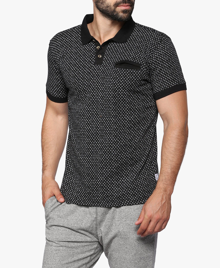 Black Jaxx Printed Polo Shirt