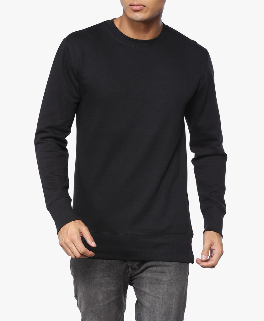 Black Longline Zip Sweatshirt