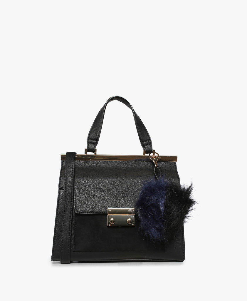 Black Palazzago Top Handle Bag