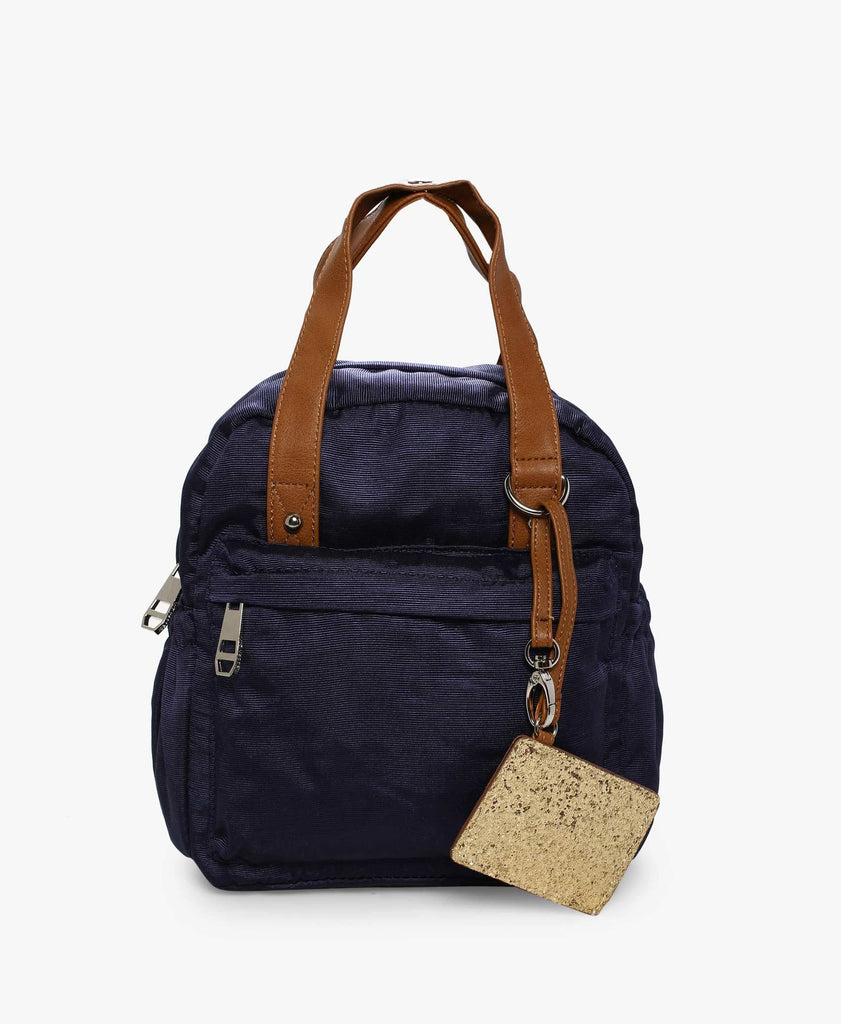 Navy MgState Backpack Cum Handbag